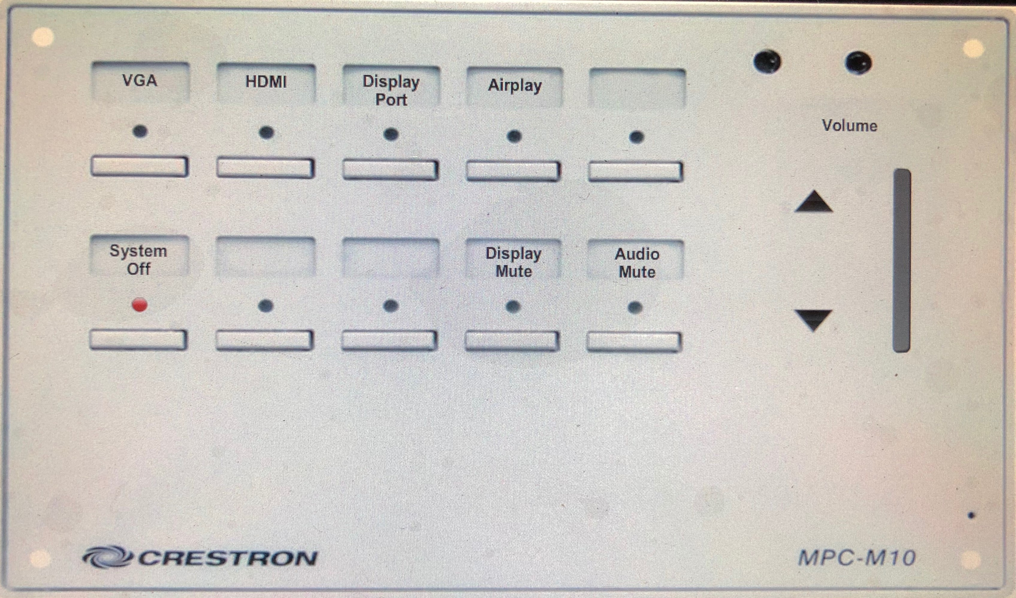 image depicting updated crestron units that are engraved