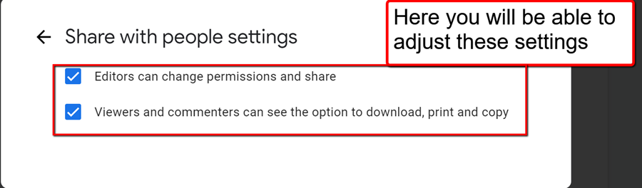 here you will be able to adjust these settings