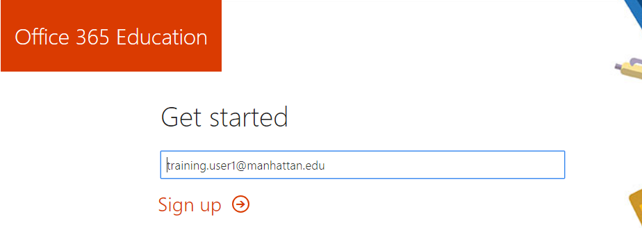 image of Office 365 Get Started Screen