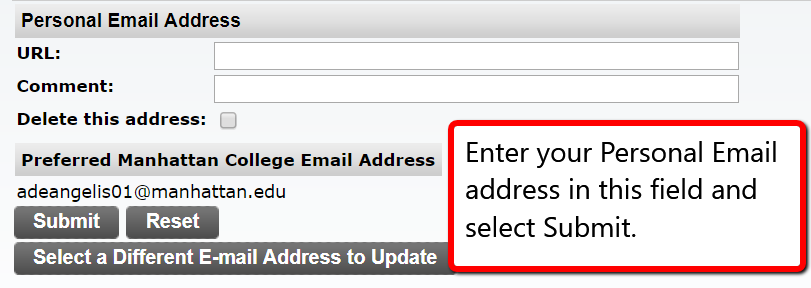 image depicting where to enter your email and select submit