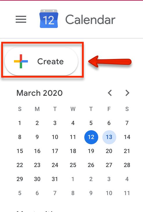 create event on google calendar
