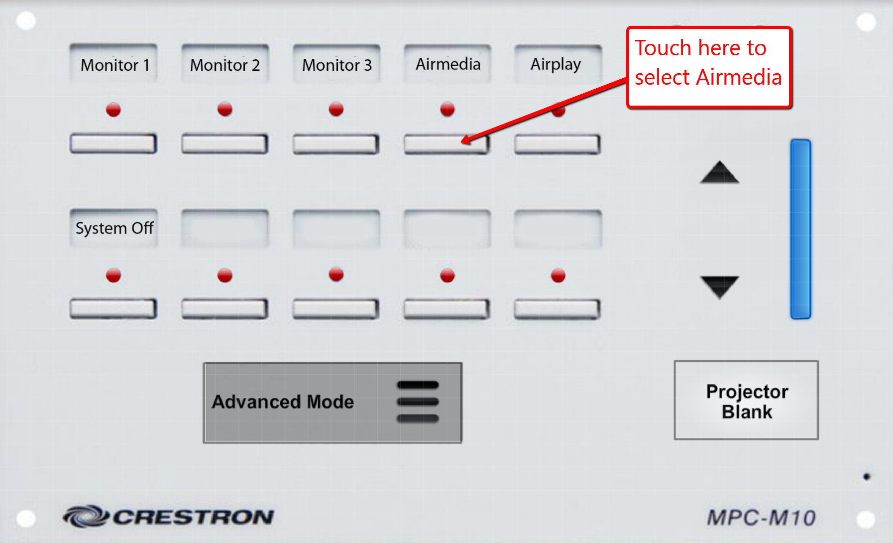 image depicting touch crestron unit