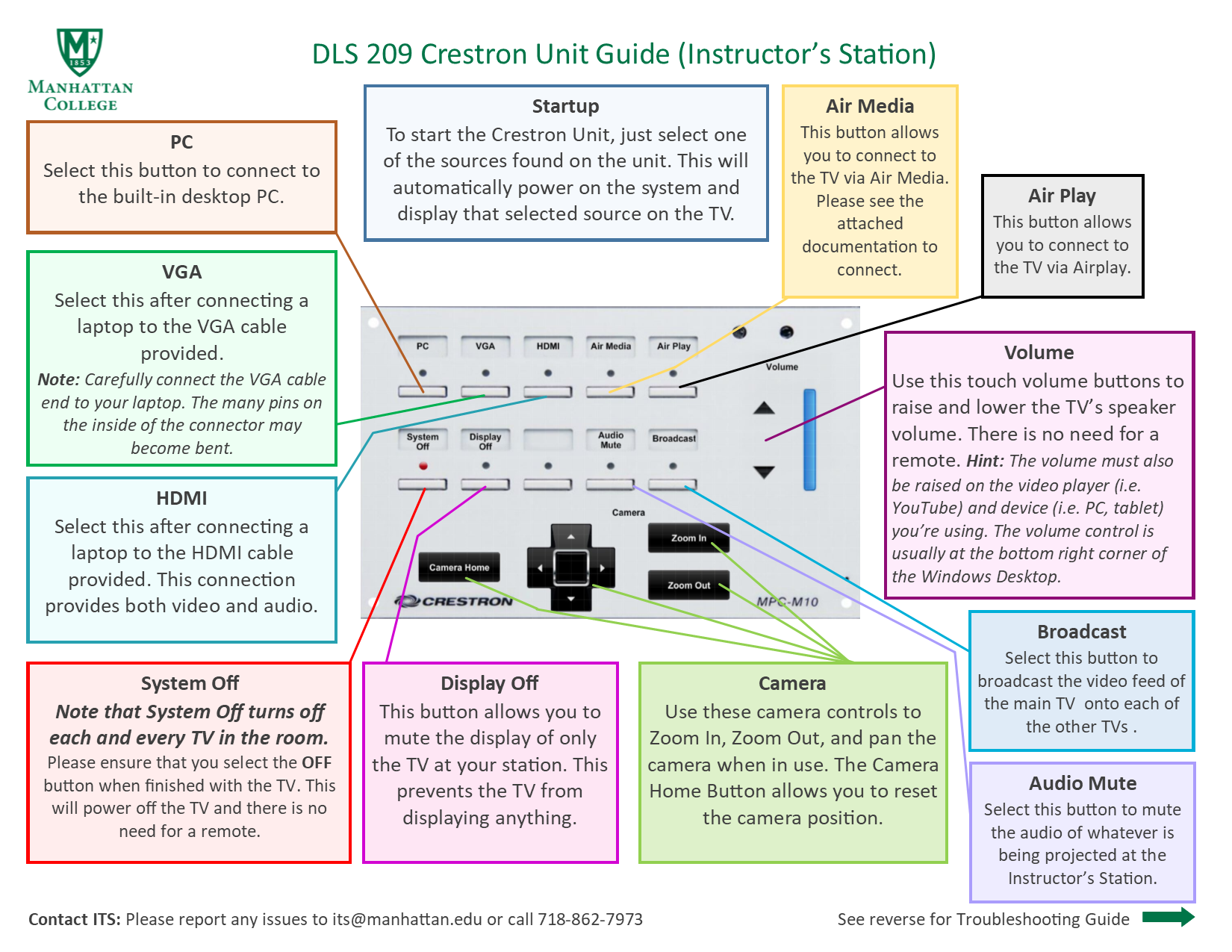 image depicting dls 209 crestron unit instructor's station