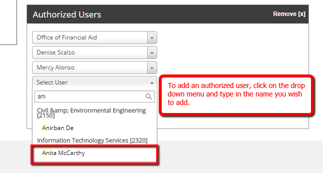 image depicting adding an authorized user