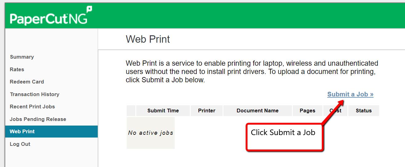 image depicting web print tab