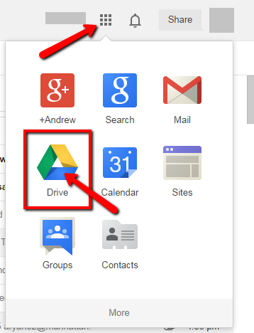 image depicting the google apps list