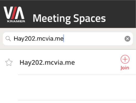 image depicting the meeting spaces search bar