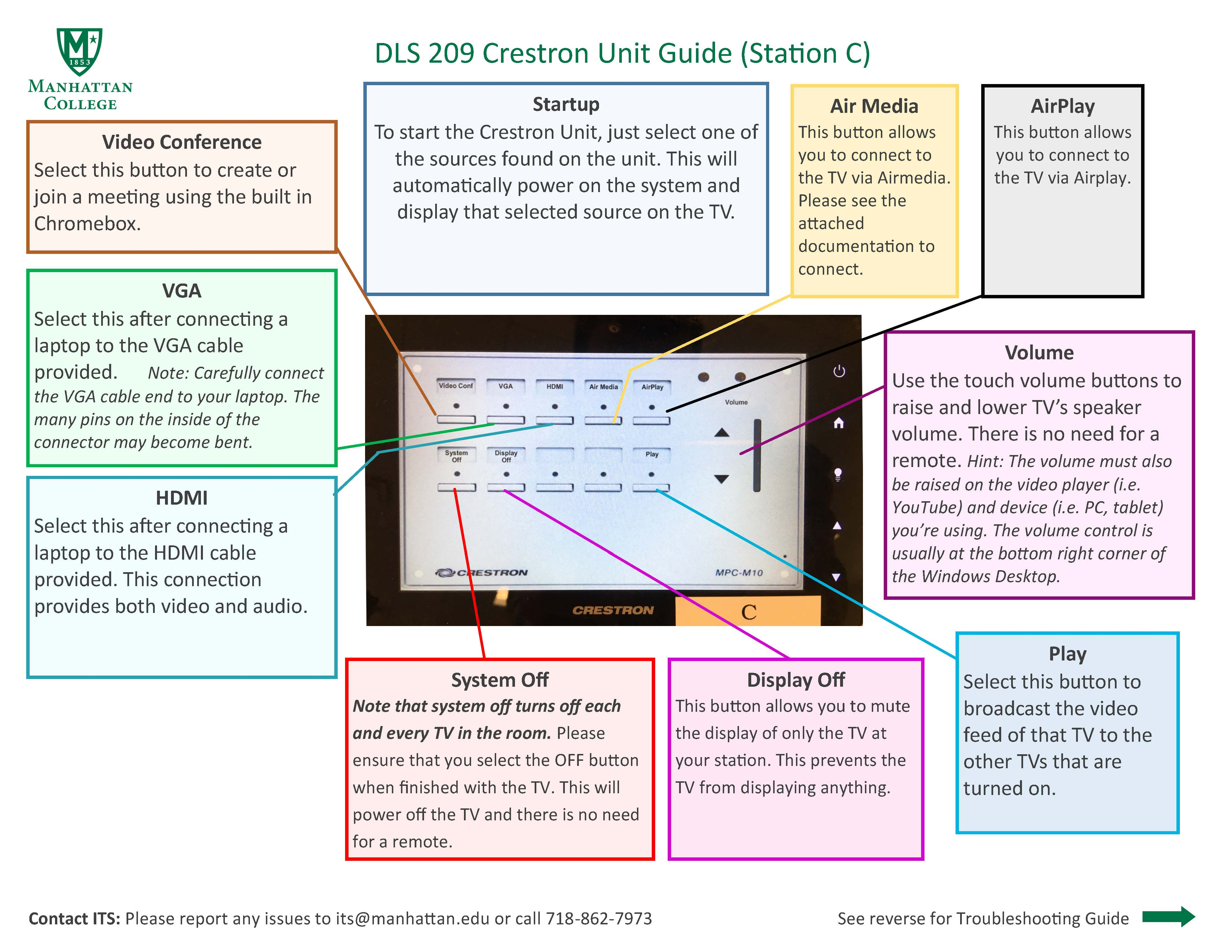 image depicting the podium guide for the dls 209 student station c couch area