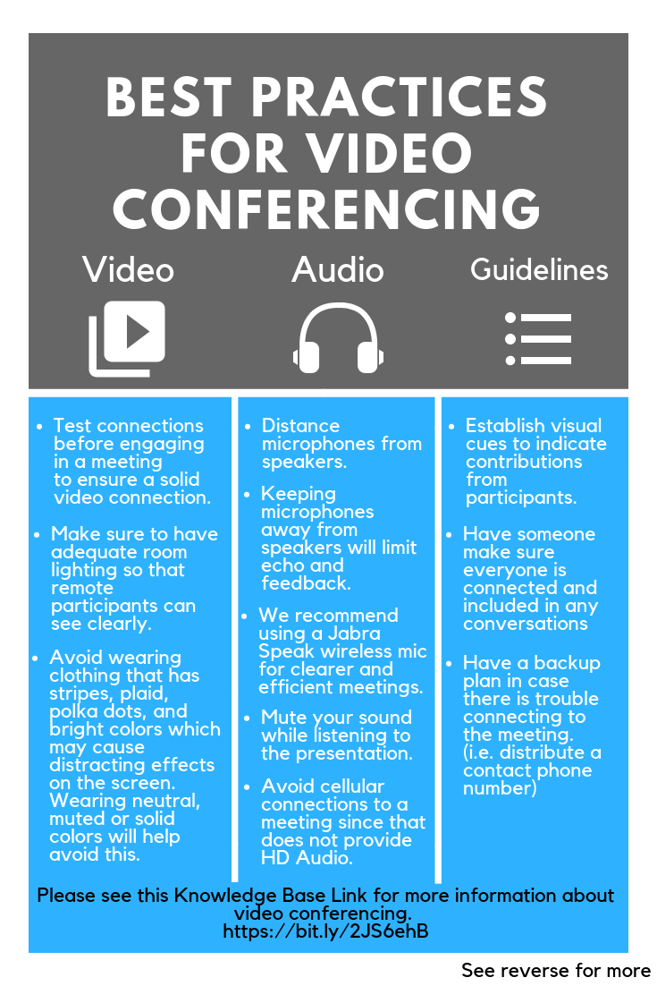 image depicting the best practices for video conferencing