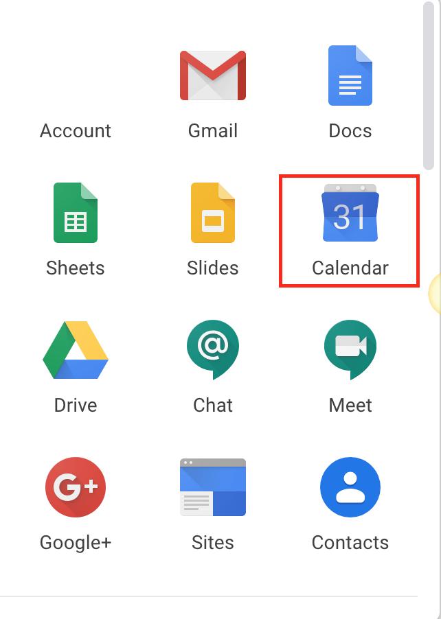 google calendar button