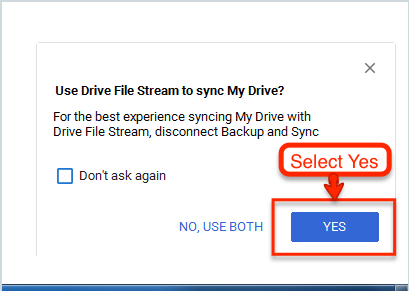 image depicting how to disconnect from Backup and Sync