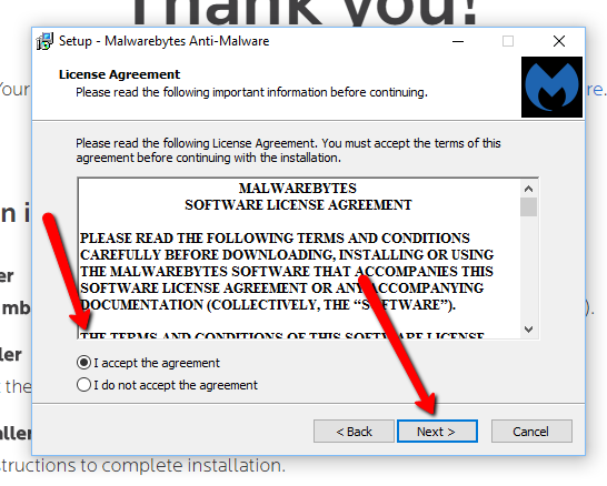 image depicting the license agreement