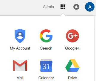 image depicting where the Google Calendar can be accessed