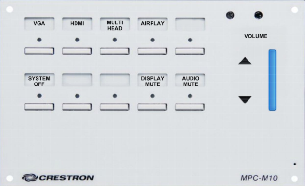 image depicting the crestron control unit in o'malley 100